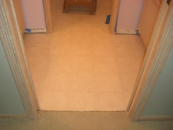 Bathroom Floor - Before - Lakeville
