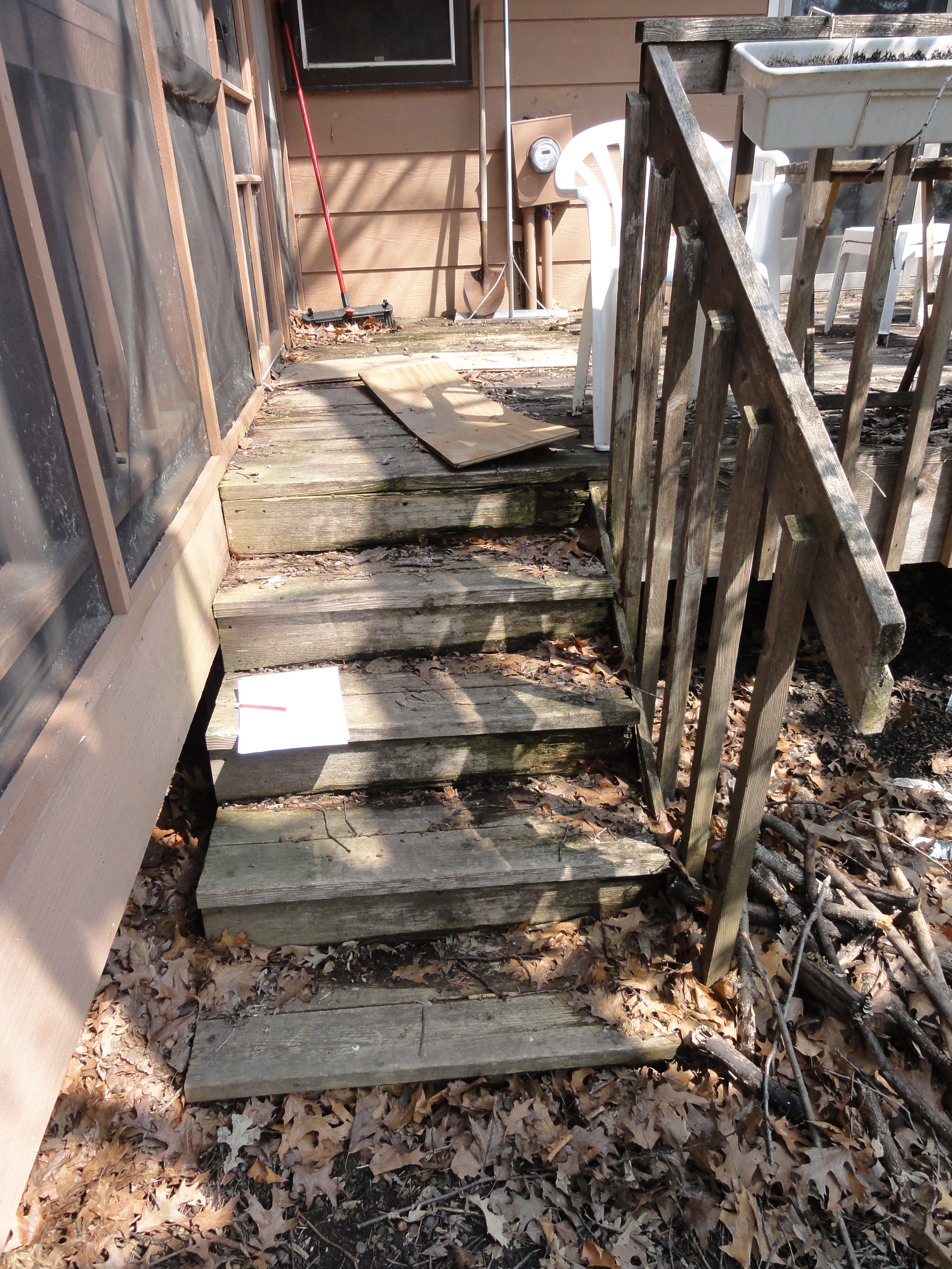 Deck - Before - Prior Lake