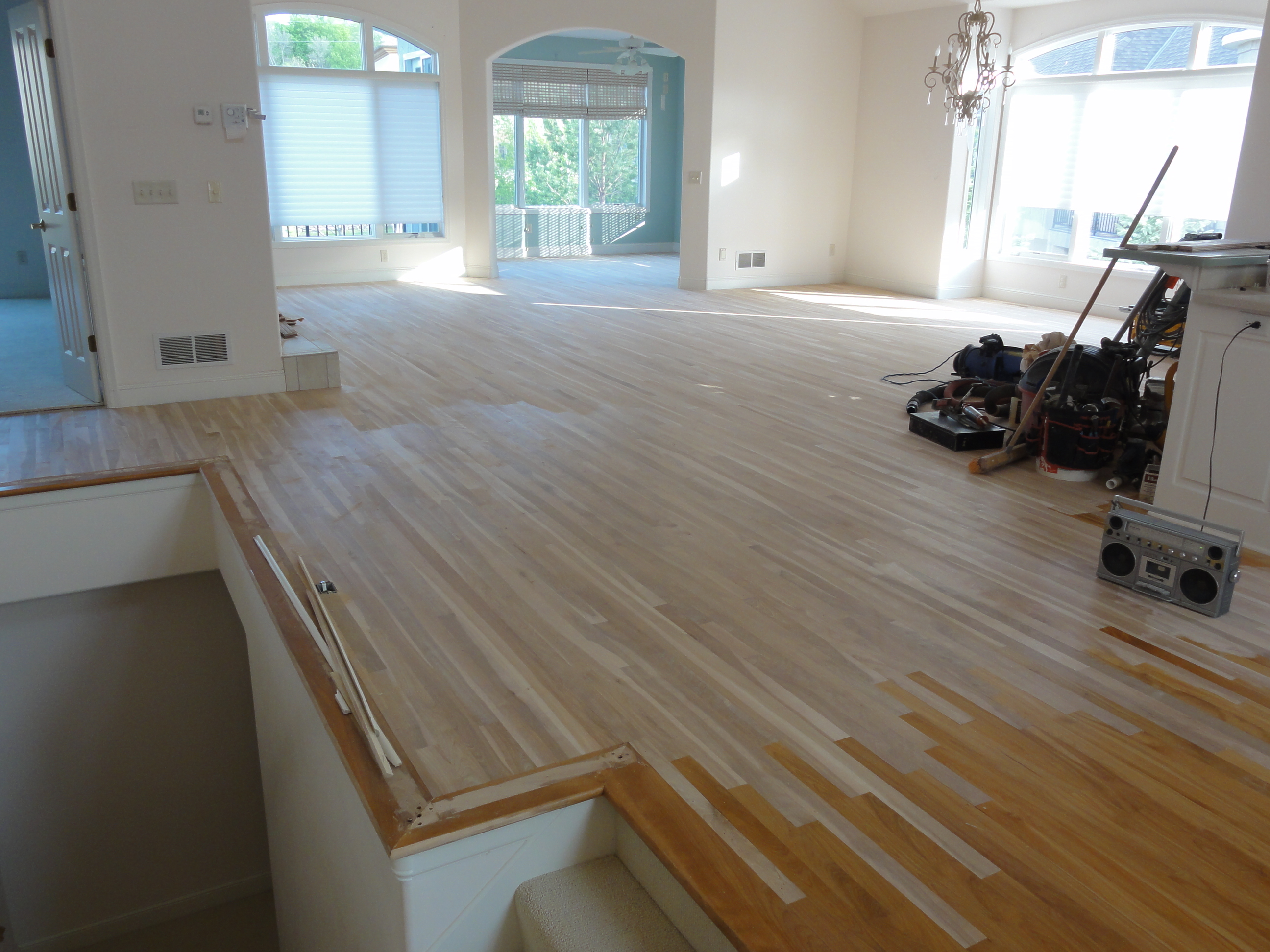 Install Birch Hardwood Floor - After - Lillydale