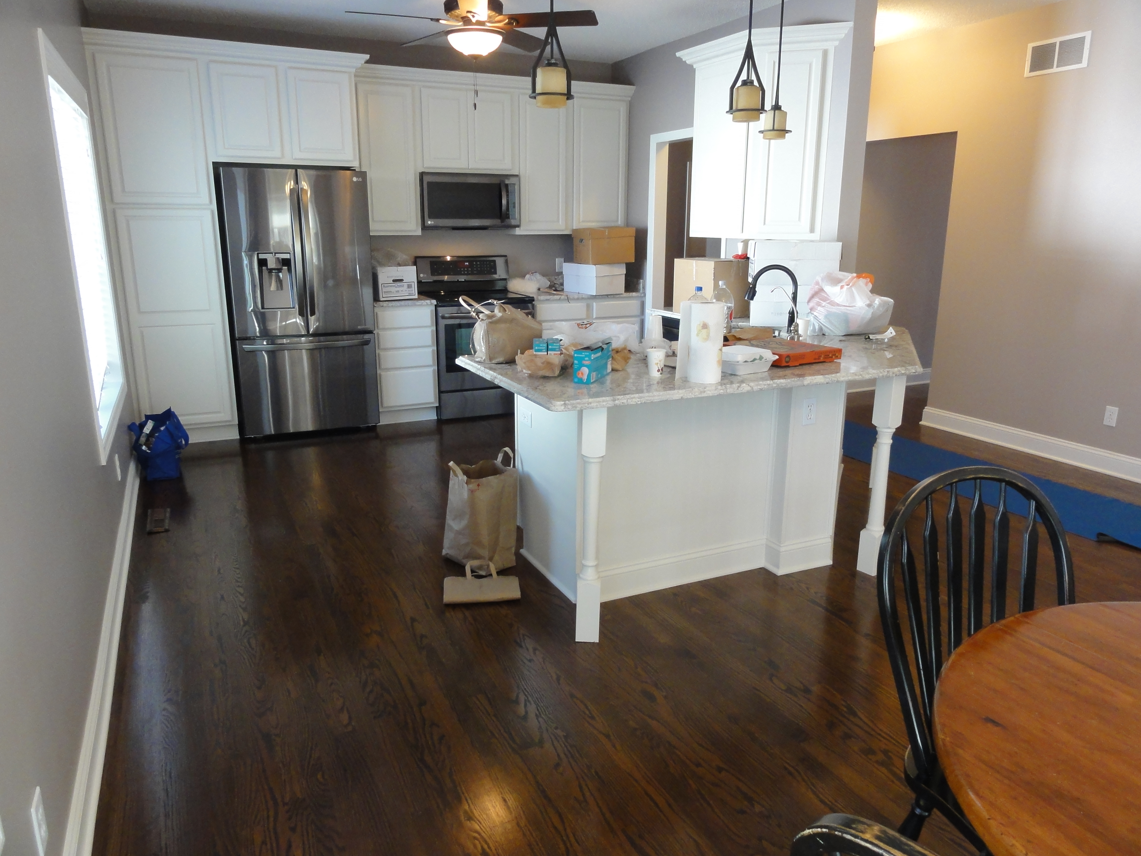Installing Red Oak Hardwood Floor - After - Rosemount