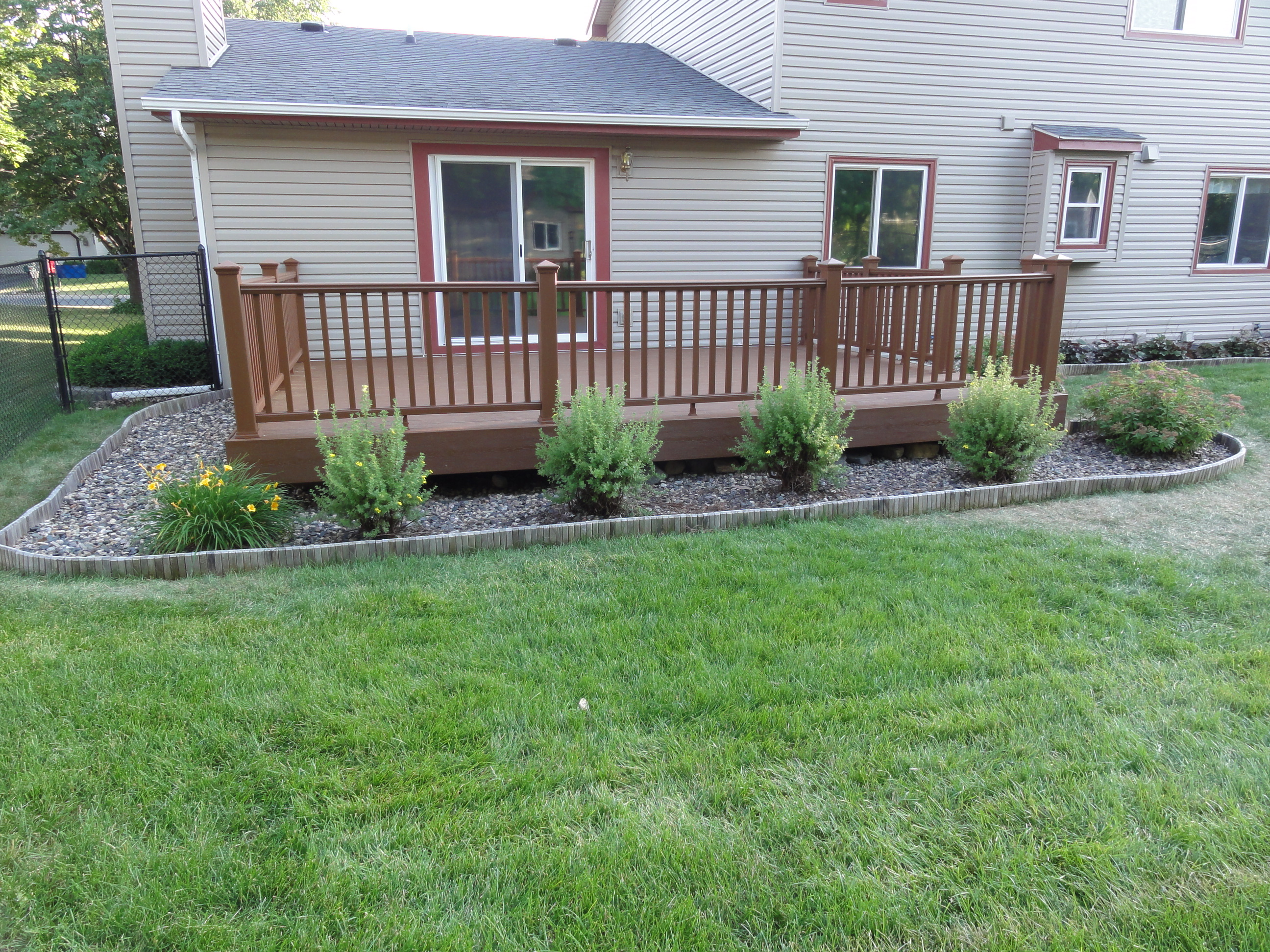 Installed Composite Decking and Metal Handrails - Burnsville