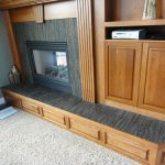 Tiled Mantel, Addes Cabinet Doors - Prior Lake