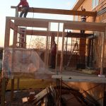 Four Season Porch and Deck Addition - During - Lakeville